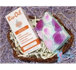 """Набор подарочный, мыло ручной работы и косметическое масло """"Bio Oil"""""""