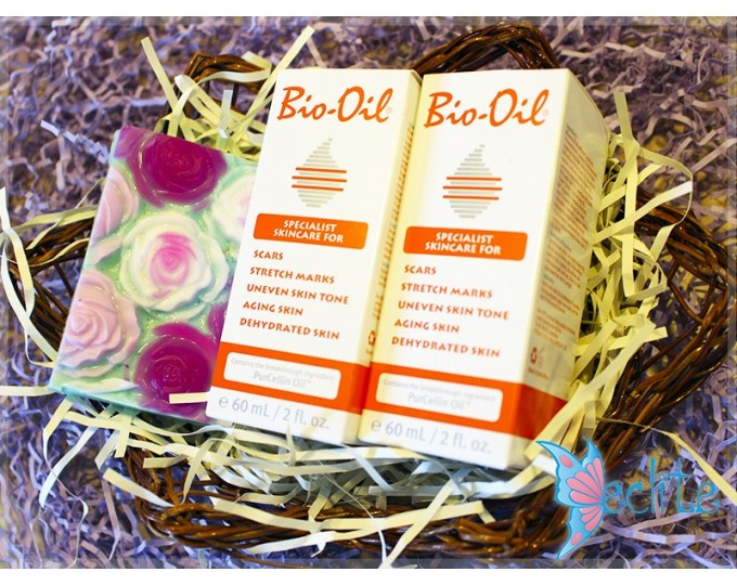 """Набор подарочный, мыло ручной работы и масло для тела """"Bio Oil maxi"""""""