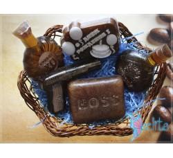 """Подарочный набор мыла ручной работы """"Крепкий День Рождения big1"""""""